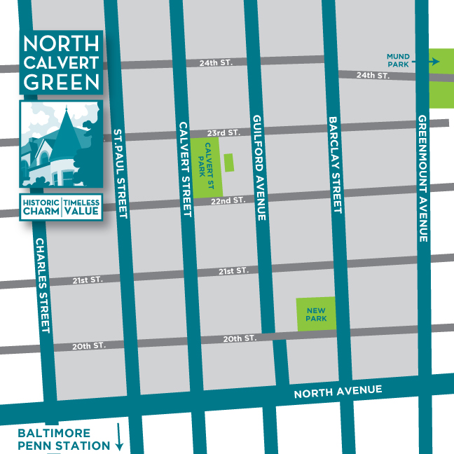 North Calvert Green Map