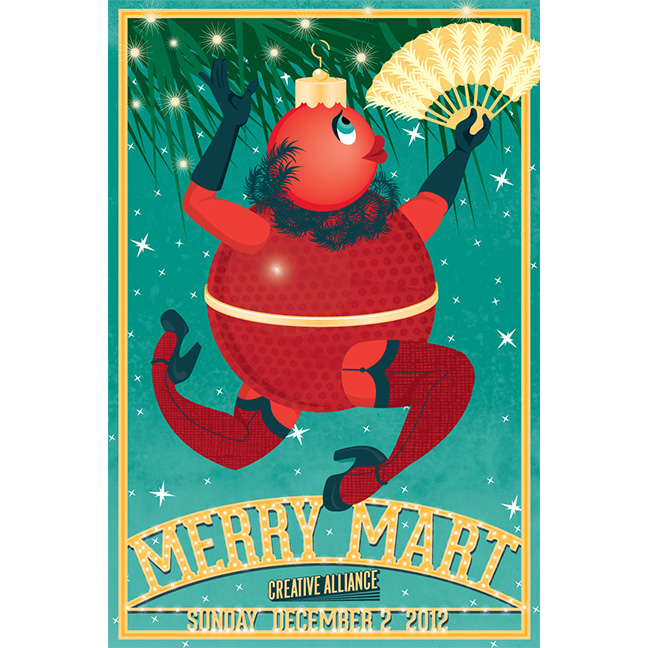 Postcard for Merry Mart